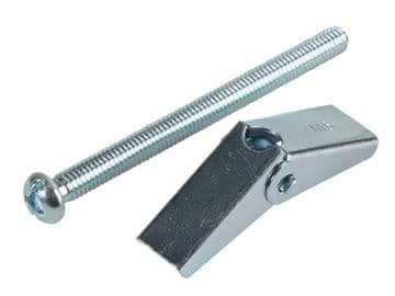 Plasterboard Spring Toggle ZP M6 x 75mm Forge Pack 4